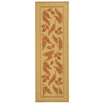 Laurel Natural/Terra Outdoor Rug Rug Size: Runner 24 x 67