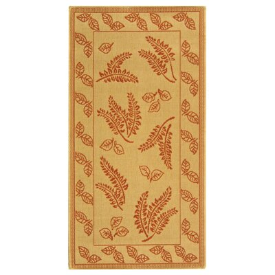 Laurel Natural/Terra Outdoor Rug Rug Size: 53 x 77