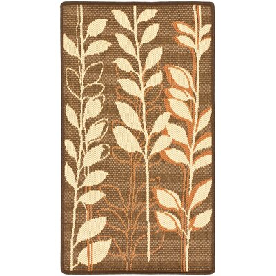 Laurel Brown Natural/Terracotta Rug Rug Size: Rectangle 27 x 5