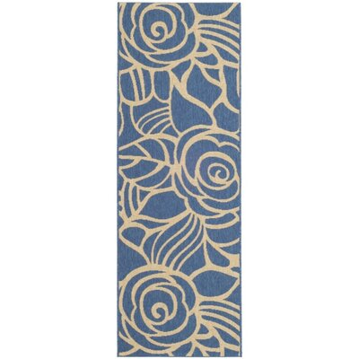 Laurel Blue / Beige Indoor/Outdoor Rug Rug Size: Runner 27 x 82