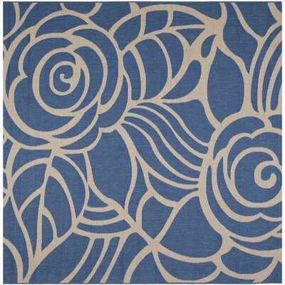 Laurel Blue/Beige Indoor/Outdoor Area Rug Rug Size: Square 710