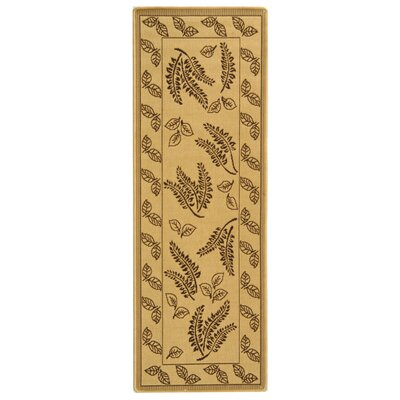 Laurel Natural/Brown Outdoor Rug Rug Size: Runner 24 x 67