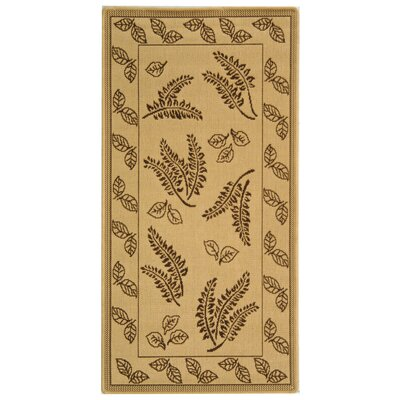 Laurel Natural/Brown Outdoor Rug Rug Size: Rectangle 53 x 77