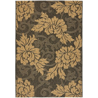 Laurel Black/Natural Outdoor Rug Rug Size: 67 x 96