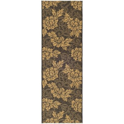 Laurel Black/Natural Outdoor Rug Rug Size: Runner 27 x 5
