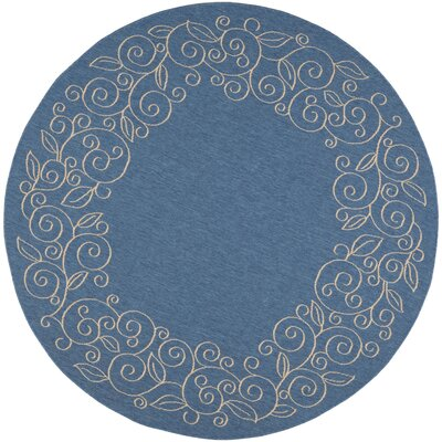 Laurel Blue Area Rug Rug Size: Round 710