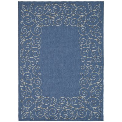 Laurel Blue Area Rug Rug Size: Rectangle 53 x 77