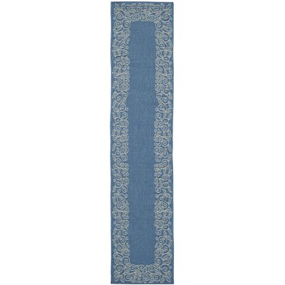 Laurel Blue Area Rug Rug Size: Runner 24 x 14