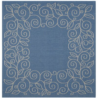 Laurel Blue Area Rug Rug Size: Square 67