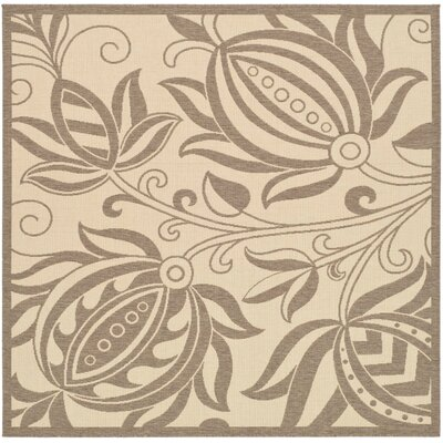 Laurel Natural / Brown Outdoor Area Rug Rug Size: Square 67