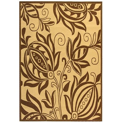Laurel Natural / Brown Outdoor Area Rug Rug Size: Rectangle 53 x 77