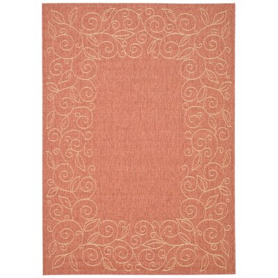 Laurel Terracotta/Beige Indoor/Outdoor Area Rug Rug Size: Rectangle 4 x 57