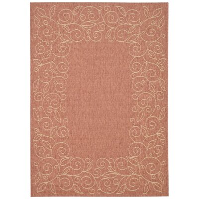 Laurel Terracotta/Beige Indoor/Outdoor Area Rug Rug Size: Rectangle 67 x 96