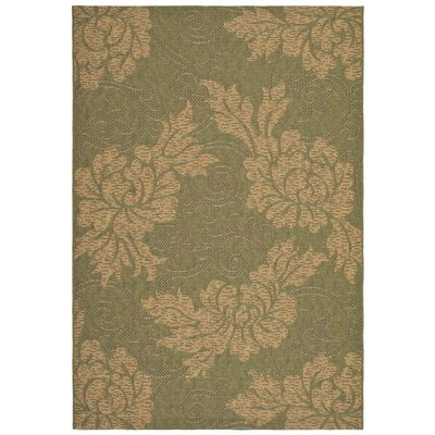 Laurel Green/Natural Outdoor Rug Rug Size: 53 x 77