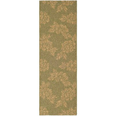 Laurel Green/Natural Outdoor Rug Rug Size: Runner 27 x 82