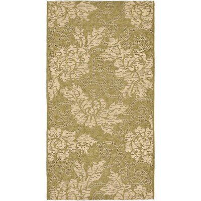 Laurel Olive / Creme Outdoor Area Rug Rug Size: Rectangle 27 x 5