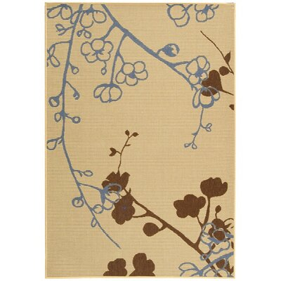 Laurel Natural Brown/Blue Outdoor Rug Rug Size: 67 x 96