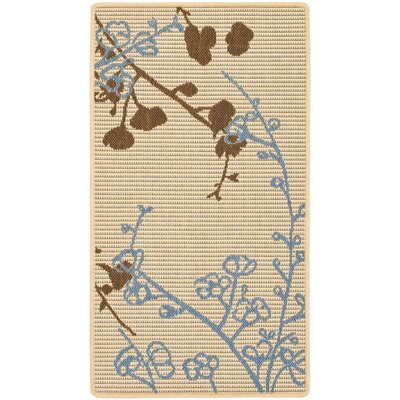 Laurel Brown/Blue Indoor/OutdoorArea Rug Rug Size: Rectangle 2 x 37
