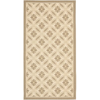 Laurel Beige/Dark Beige Indoor/Outdoor Rug Rug Size: Rectangle 27 x 5