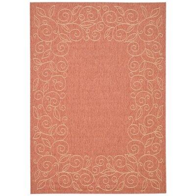 Laurel Terracotta/Beige Indoor/Outdoor Area Rug Rug Size: Square 67