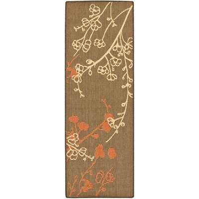 Laurel Brown Natural/Terracotta Outdoor Rug Rug Size: Rectangle 27 x 5