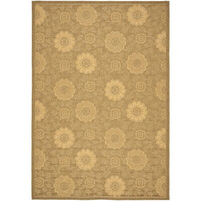 Laurel Light Gold/Natural Outdoor Rug Rug Size: Rectangle 53 x 77