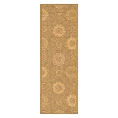 Laurel Light Gold/Natural Outdoor Rug Rug Size: Runner 2'2