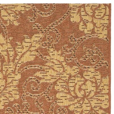 Laurel Brick/Natural Outdoor Rug Rug Size: 53 x 77