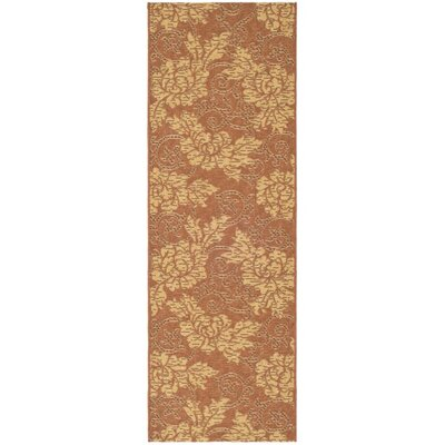 Laurel Brick/Natural Outdoor Rug Rug Size: Runner 22 x 911
