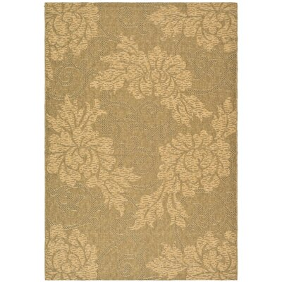 Laurel Gold & Natural Outdoor Area Rug Rug Size: 53 x 77
