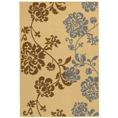 Laurel Brown/Blue Indoor/Outdoor Area Rug Rug Size: Rectangle 2 x 37