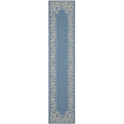 Laurel Blue/Natural Indoor/Outdoor Rug Rug Size: Rectangle 27 x 5