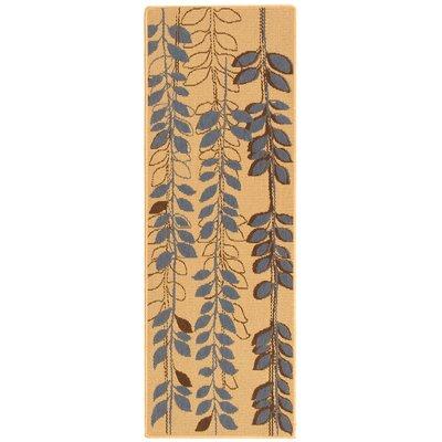 Laurel Natural Brown/Blue Rug Rug Size: Runner 24 x 67