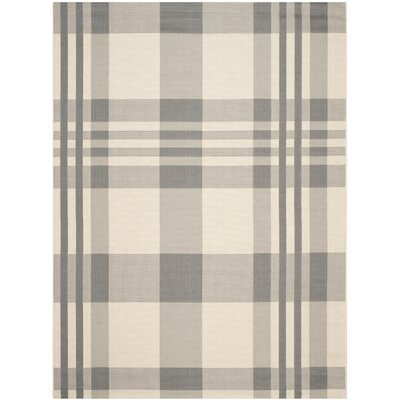 Laurel Gray & Bone Indoor/Outdoor Area Rug Rug Size: 9 x 12