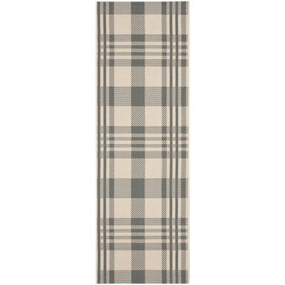 Laurel Gray & Bone Indoor/Outdoor Area Rug Rug Size: Runner 24 x 67