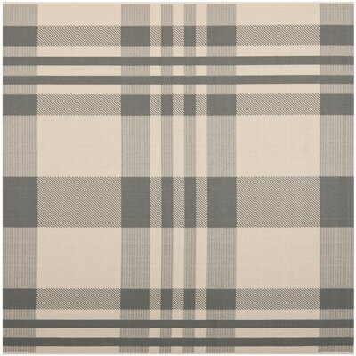 Laurel Gray & Bone Indoor/Outdoor Area Rug Rug Size: Square 67