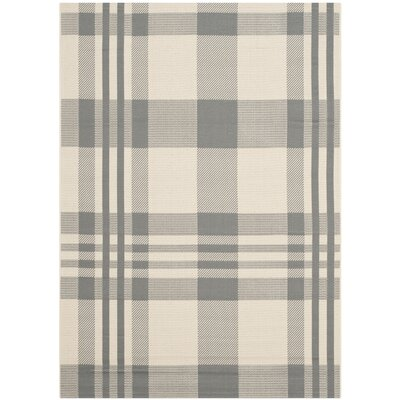 Laurel Gray & Bone Indoor/Outdoor Area Rug Rug Size: 53 x 77
