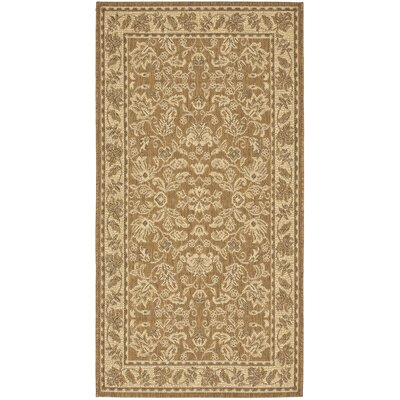 Laurel Brown / Creme Outdoor Area Rug Rug Size: Rectangle 27 x 5