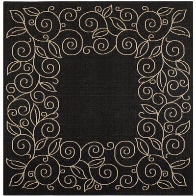 Laurel Black/Sand Outdoor Rug Rug Size: Square 67