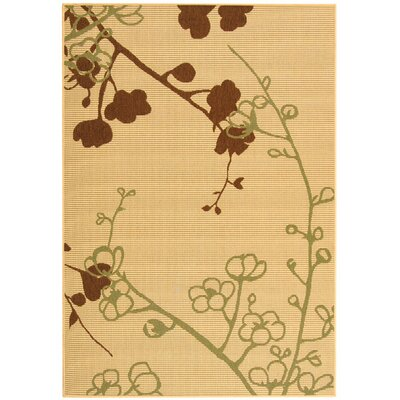 Laurel Natural Brown/Olive Outdoor Rug Rug Size: 2 x 37