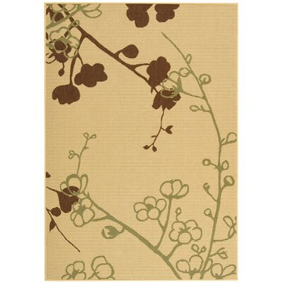 Laurel Natural/Olive Indoor/Outdoor Area Rug Rug Size: Rectangle 53 x 77