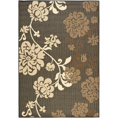 Laurel Black Natural/Brown Outdoor Rug Rug Size: 53 x 77
