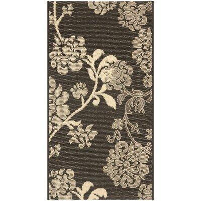 Laurel Black Natural/Brown Outdoor Rug Rug Size: 2 x 37