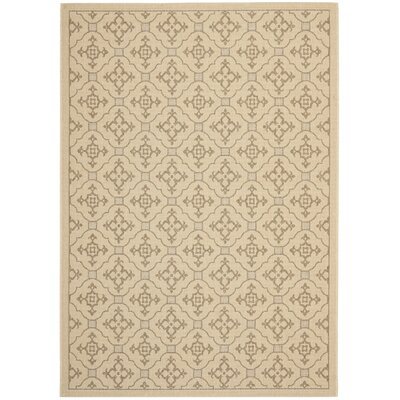 Laurel Creme/Brown Indoor/Outdoor Rug Rug Size: 53 x 77