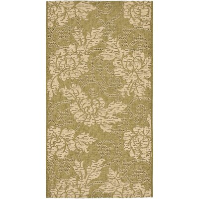 Laurel Green/Creme Outdoor Rug Rug Size: Rectangle 27 x 5