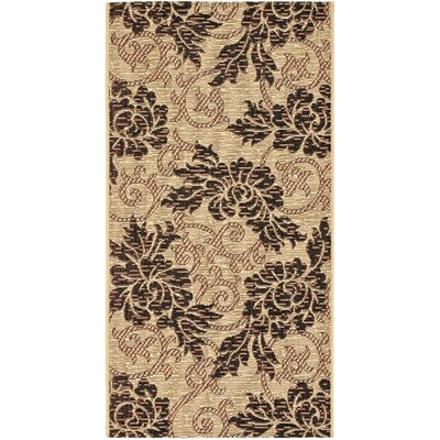 Laurel Creme/Black Outdoor Rug Rug Size: Runner 27 x 5
