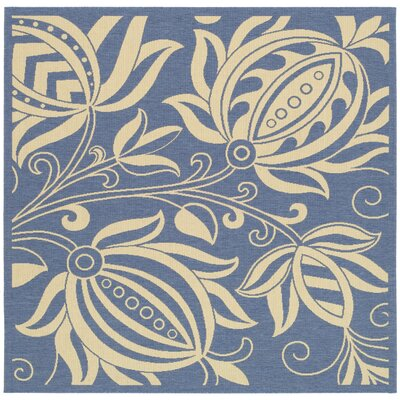 Laurel Blue/Natural Area Rug Rug Size: Square 6'7