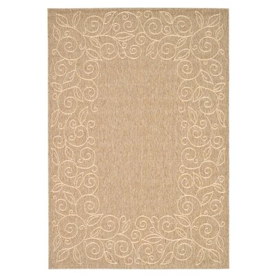 Laurel Coffee/Sand Outdoor Rug Rug Size: Rectangle 53 x 77