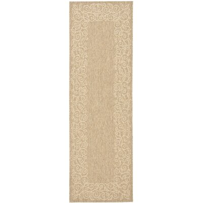 Laurel Coffee/Sand Outdoor Rug Rug Size: Runner 27 x 82