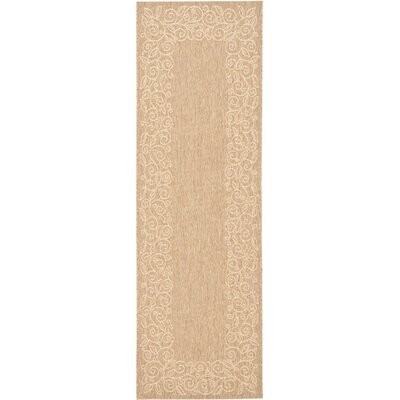 Laurel Coffee/Sand Outdoor Rug Rug Size: Runner 24 x 67